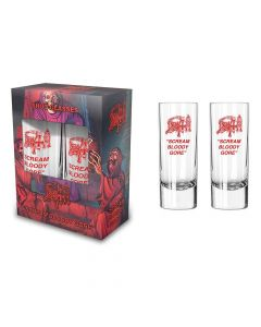 death scream bloody gore shot glass