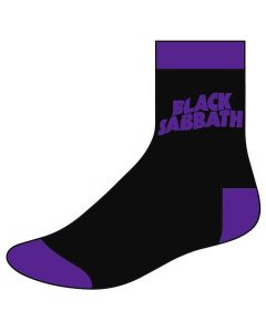 black sabbath wavy logo socks