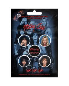 motley crue girls girls girls button badge pack