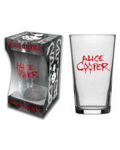alice cooper logo beer glass