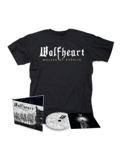 60218 wolfheart wolves of karelia digipak cd + t-shirt bundle melodic death metal