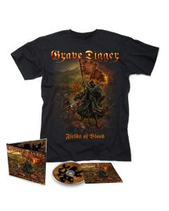 grave digger fields of blood digipak cd t shirt bundle
