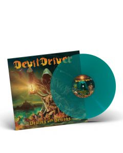 devildriver dealing with demons 1 clear green vinyl