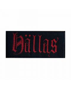hällas red logo patch