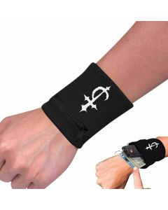devildriver cross zip wristband