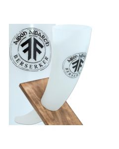 amon amarth berserker circle white drinking horn