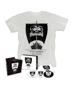 skalmöld 10 Year Anniversary - Live in Reykjavik - Digipak 2-CD + Blu Ray in Slipcase + t shirt bundle