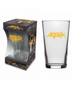 anthrax logo beer glass