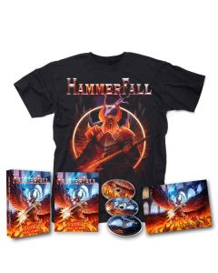 hammerfall live against the world bluray cd digipak shirt bundle