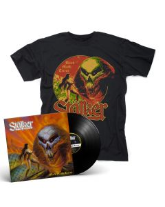 stälker black majik terror black vinyl + t shirt bundle
