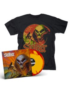 stälker black majik terror yellow red ink spot vinyl + t shirt bundle
