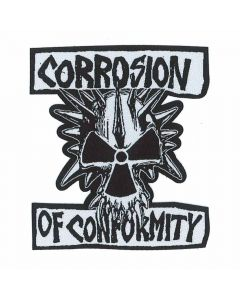 corrosion of conformity skull logo patch