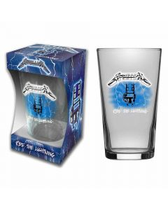metallica ride the lightningt beer glass
