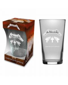 metallica master of puppets beer glass