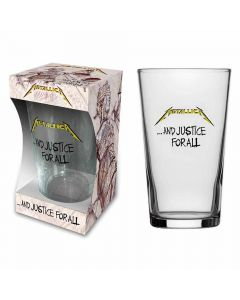 metallica and justice for all beer glass