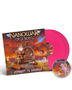 nanowar of steel stairway to valhalla pink 2 vinyl + cd