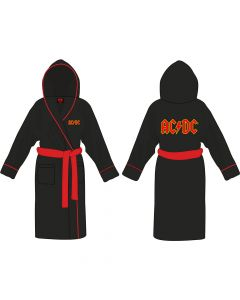 acdc logo bath robe