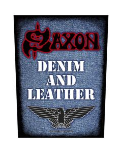 saxon denim and leather backpatch