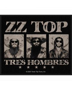 zz top tres hombres patch