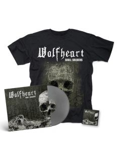 "wolfheart skull soldiers silver 12 "" Mini LP + Patch + T Shirt"