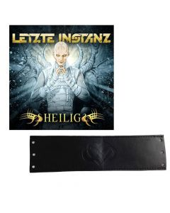 letzte instanz heilig cd leather wristband bundle