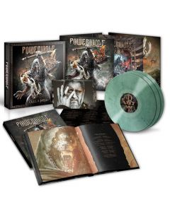 powerwolf call of the wild dark green marbled vinyl box