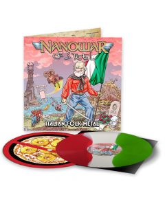 Italian Folk Metal - Die Hard Edition: RED WHITE GREEN Split Vinyl + Slipmat