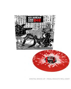 Go Ahead And Die - TRANSPARENT ROT WEIßES Splatter Vinyl