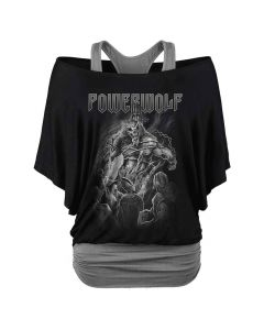 Powerwolf Fast Than The Flame Girl Double Layer Shirt
