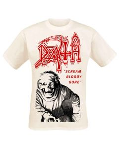 death scream bloody gore vintage white shirt