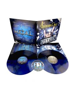 FREEDOM CALL - M.E.T.A.L. /  BLUE Marbled 2-LP Gatefold