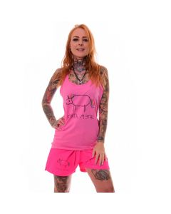 K42300 Kristy von Kashyyyk Model Heavy Metal Merch Death Metal Unicorn Girl Pink Tank Top
