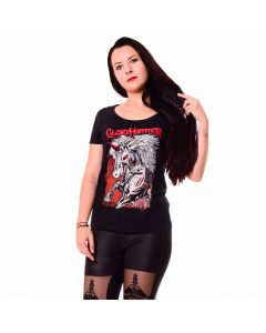 K60458 Gloryhammer Unicorn Girls Shirt Black Anna Eibler 11