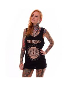 powerwolf crest circle tank top