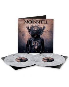 Moonspell - Extinct - WHITE BLACK Marbled Vinyl