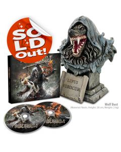 powerwolf call of the wild mediabook wolf bust bundle