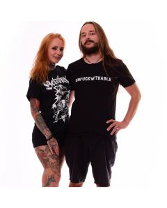 T-Shirt Black Heavy Metal Merch Men Unfuckwithable