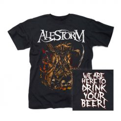 alestorm we here to drink your beer shirt