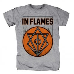 IN FLAMES - Vintage Circle Filled / GREY T-Shirt