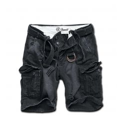 BRANDIT - Shell Valley Heavy Vintage Shorts  / BLACK