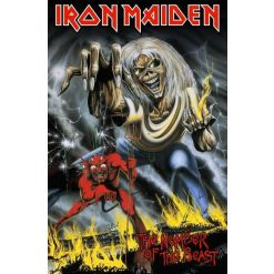 iron maiden - number of the beast - flagge