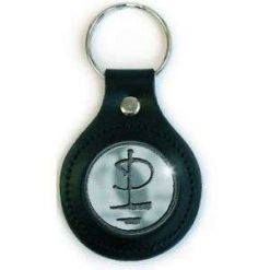 Icon / Leather Key Ring