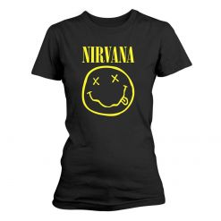 NIRVANA - Smiley Logo / Girlie Shirt