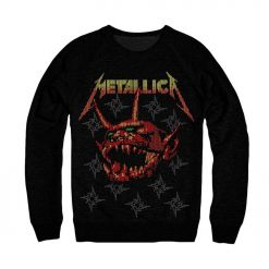 Metallica Log Fire sweater front