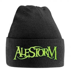 alestorm green logo knitted ski hat