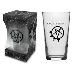 arch enemy logo beer glass
