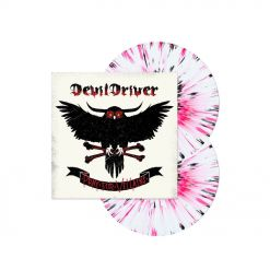 52313 devildriver pray for villains white red black splatter 2-lp death metal