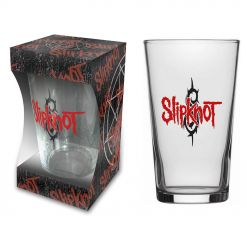 52888 slipknot logo beer glass