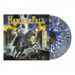 54729 hammerfall renegade clear-white-blue splatter lp power metal