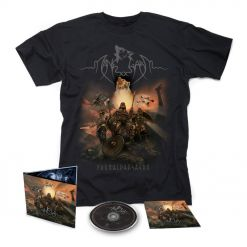 55108 manegarm fornaldarsagor digipak cd + t-shirt bundle viking metal